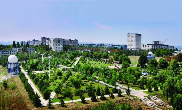 Panorama Parcului dendrologic al UTM