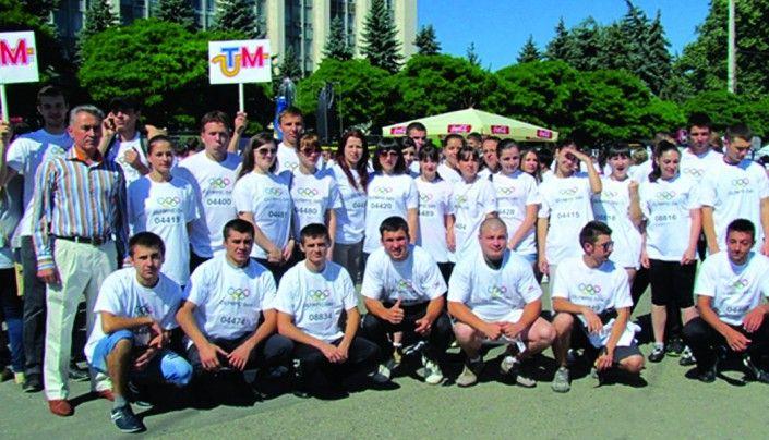 Studenţii UTM la Cursa Olimpică, organizată de CNO al RM, anul 2013