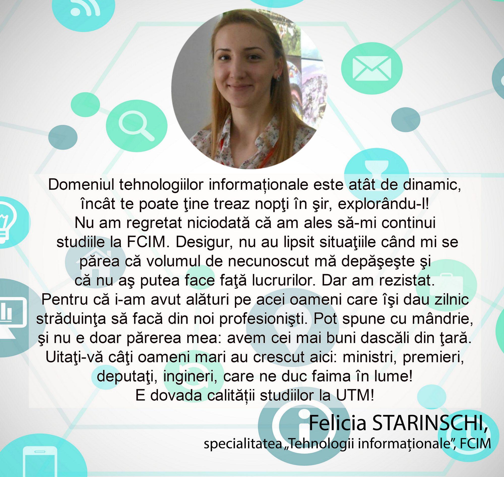 Felicia STARINSCHI - FCIM