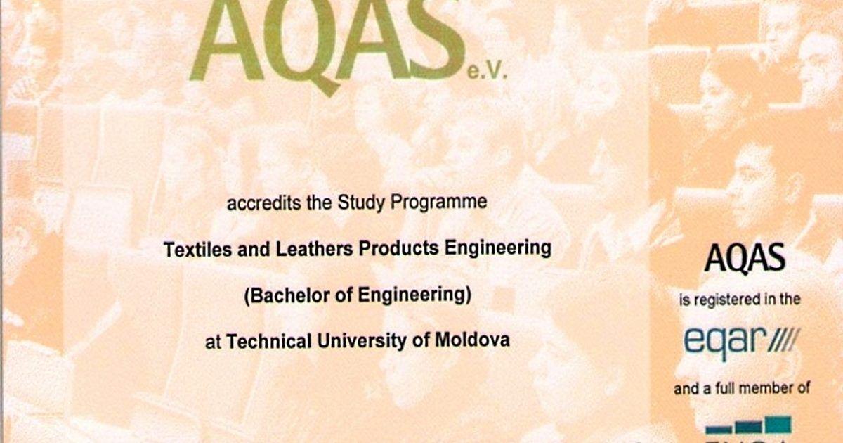 AQAS_Ingineria produselor textile și din piele